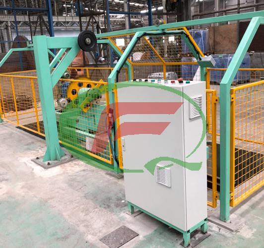 铝包钢钢丝收线机